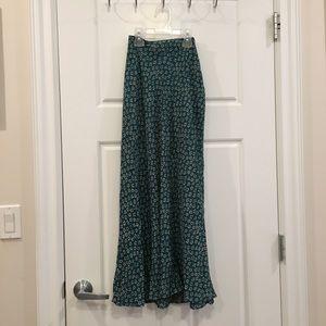 Vintage | printed maxi skirt